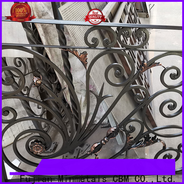 CBM outdoor wrought iron railings from manufacturer for flats