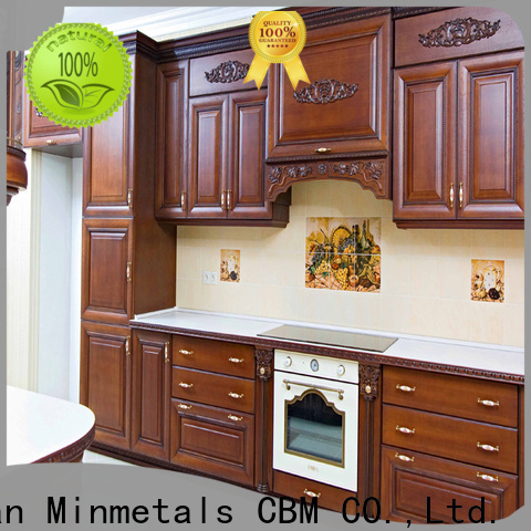 popular real wood kitchen cabinets bulk production for villa
