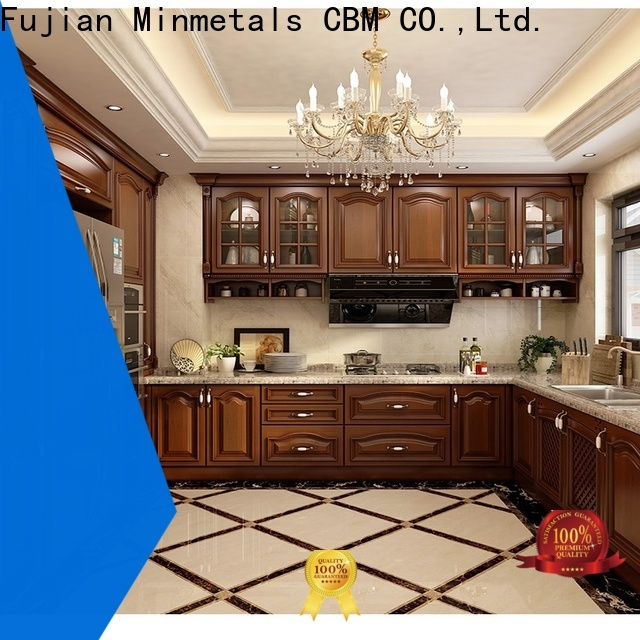 CBM durable real wood kitchen cabinets factory for new house