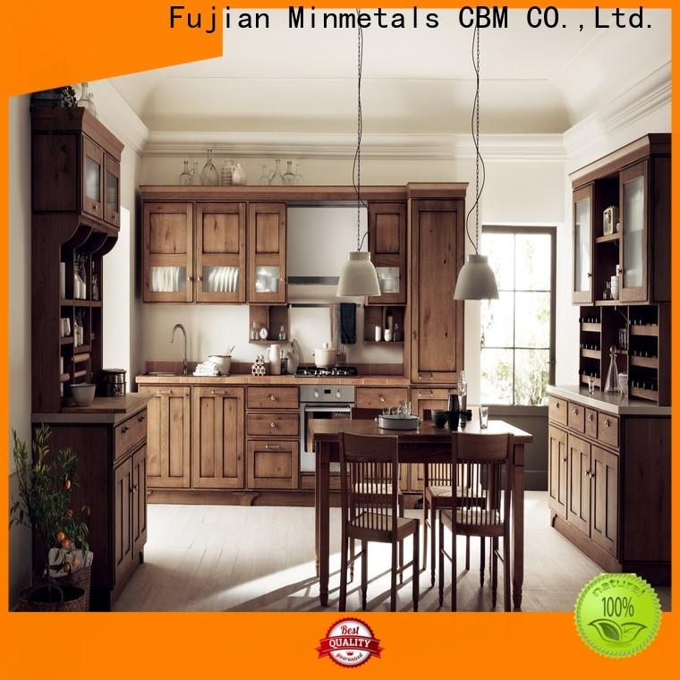 CBM dark wood kitchen cabinets manufacturer for home