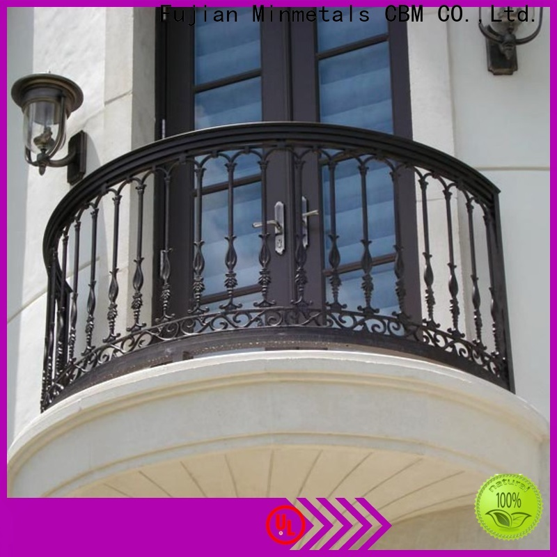 CBM decorative wrought iron fence from manufacturer for construstion