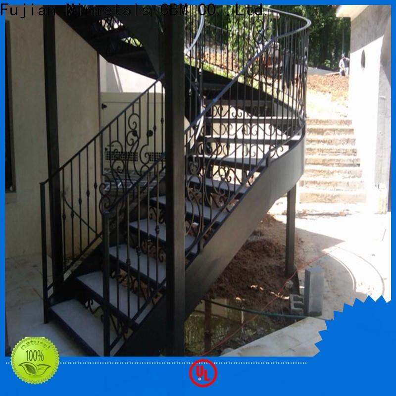 CBM new-arrival exterior wrought iron railing free design for apartment