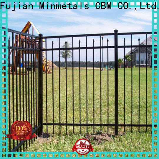 best black wrought iron fence for wholesale for mansion