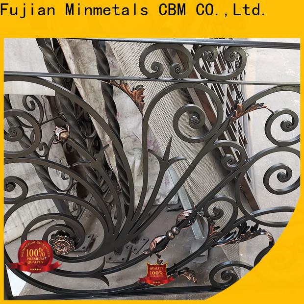 CBM healthy black wrought iron fence bulk production for new house