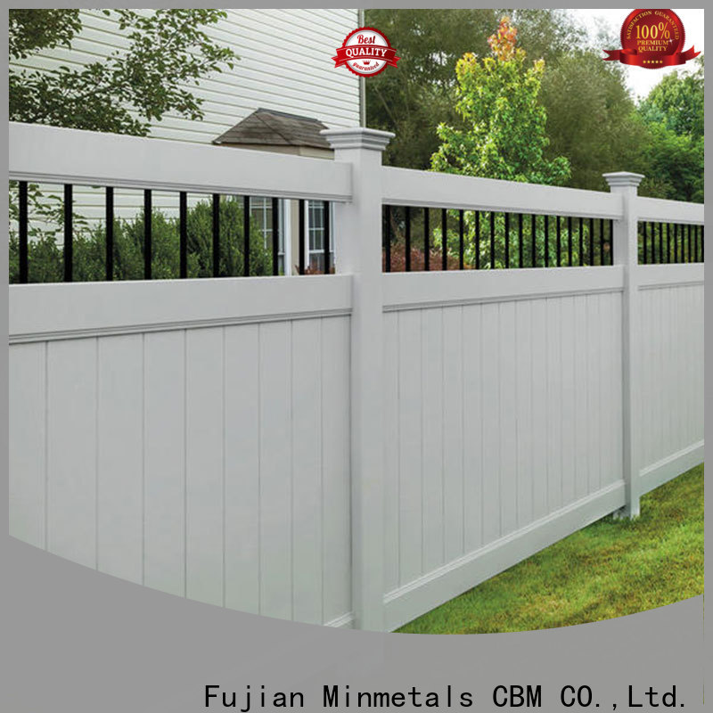CBM best pvc fence factory for new house
