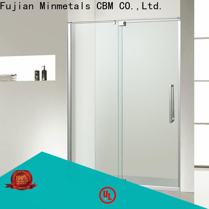 CBM bathroom glass door owner for flats