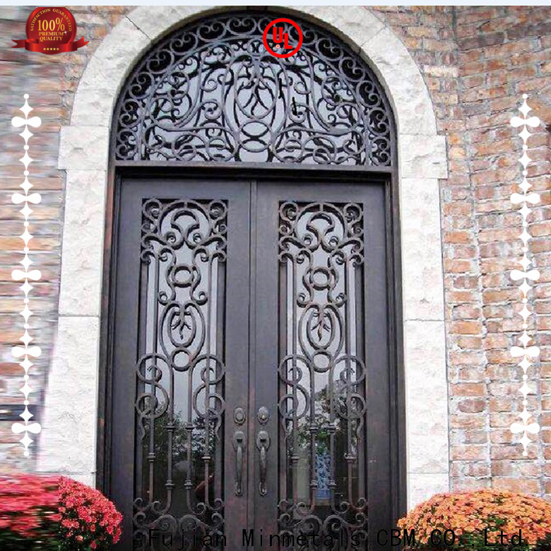 hot-sale rod iron doors certifications for holtel