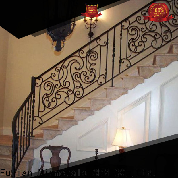CBM hot-sale interior wrought iron railings certifications for mansion