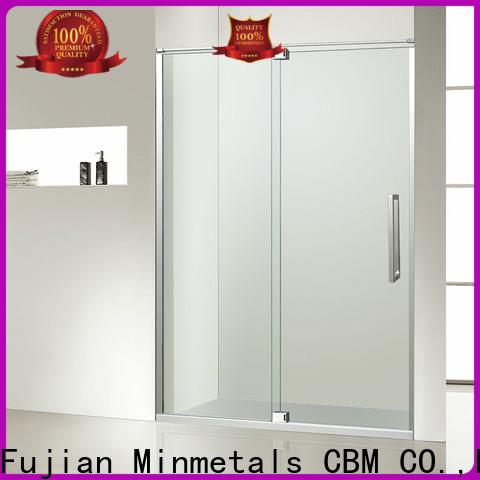 CBM high-quality bathroom sliding glass door factory for home