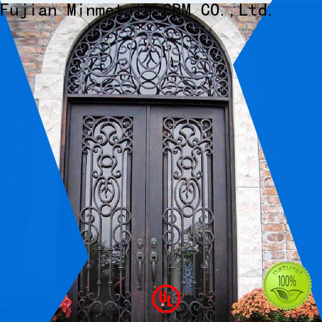 CBM wrought iron doors bulk production for villa