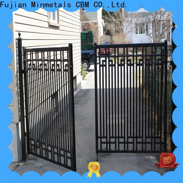 stable modern iron doors factory price for flats