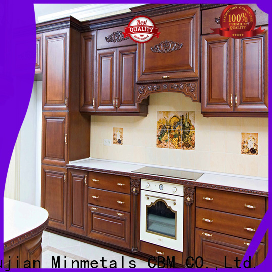 CBM cherry wood kitchen cabinets at discount for housing