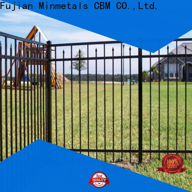 hot-sale decorative wrought iron fence from manufacturer for villa
