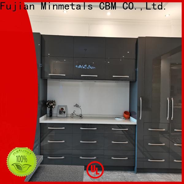CBM white acrylic cabinets factory for villa