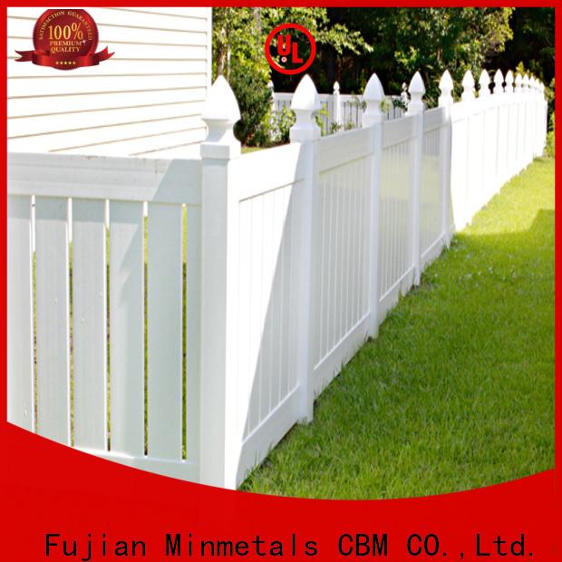 CBM vinyl fencing from manufacturer for housing