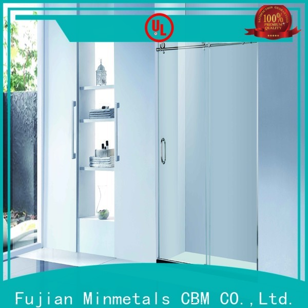 CBM bathroom glass door manufacturers for flats