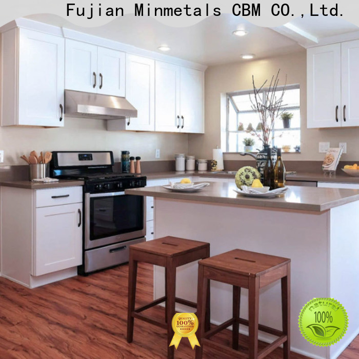 CBM real wood kitchen cabinets factory for apartment