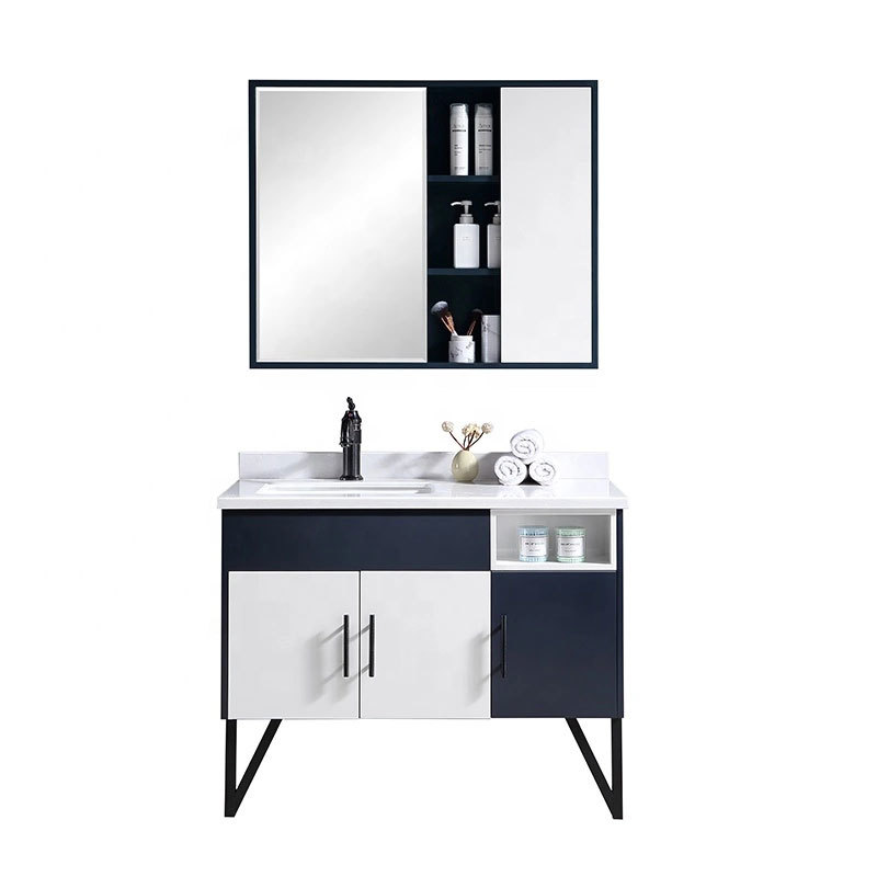 Hot selling modern furniture PVC bathroom cabinet Customized Antique Bathroom Vanity Cheap design