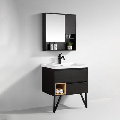 Multi layer solid wood paint free board bathroom cabinet or vanity hot sale style Modern popular MDF bathroom vanity