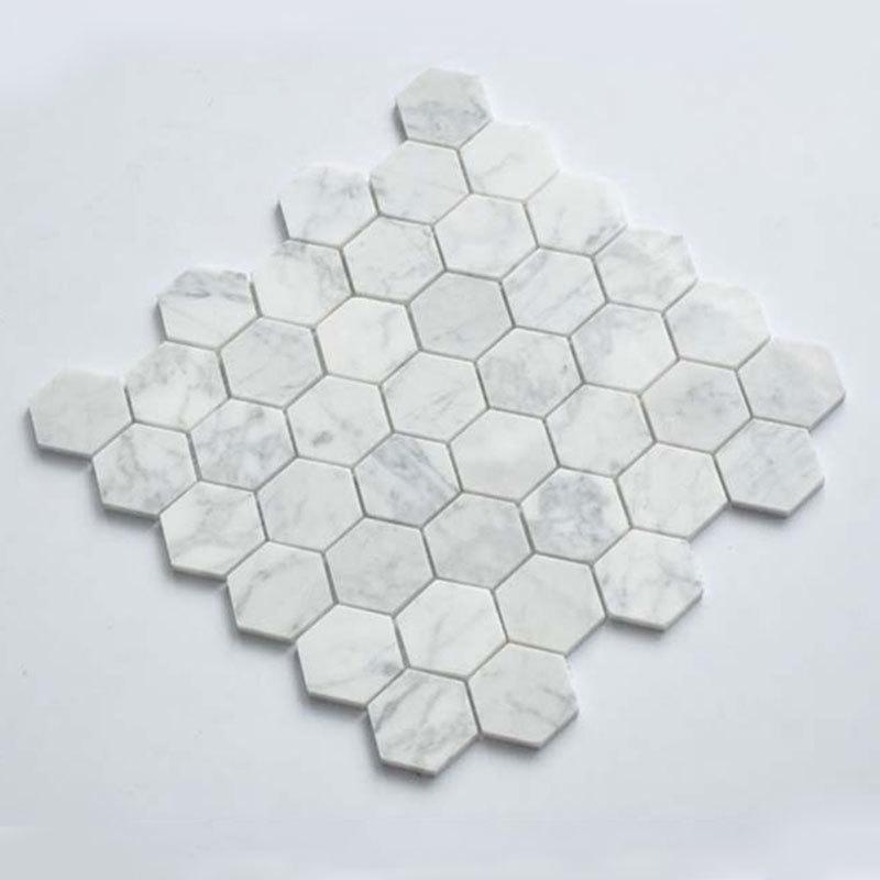 Hexagon marble stone mosaic 48x48