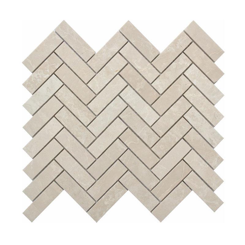 Mosaico de piedra de mármol rectángulo blanco 23x75