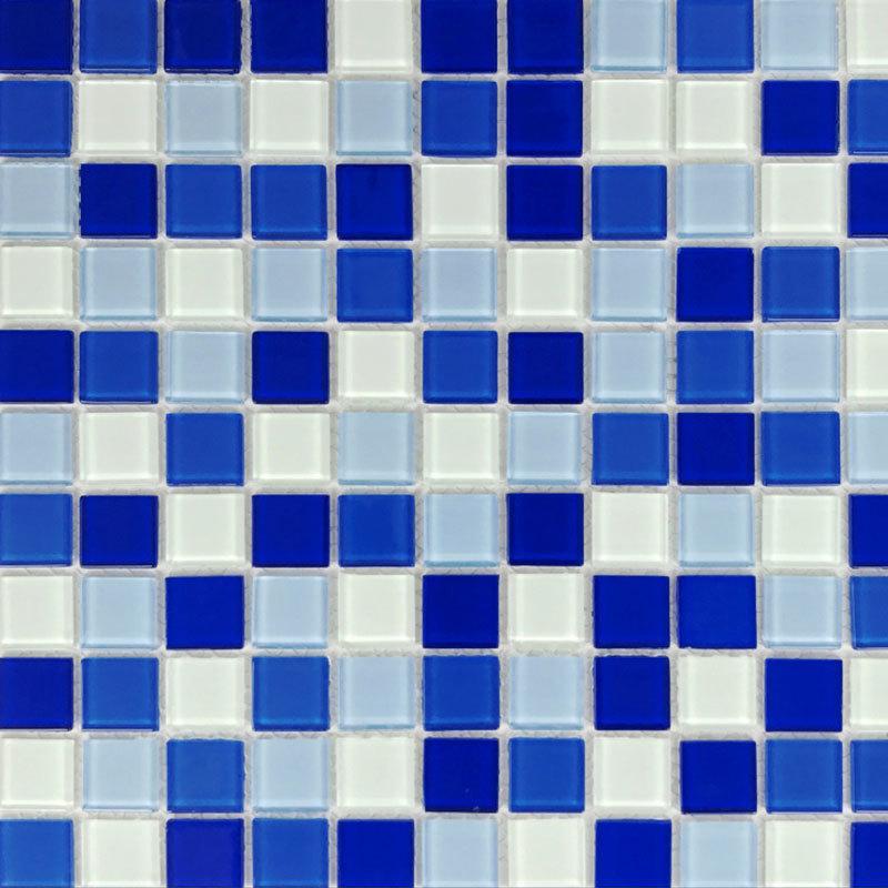 Mezclar el mosaico de cristal azul 23x23