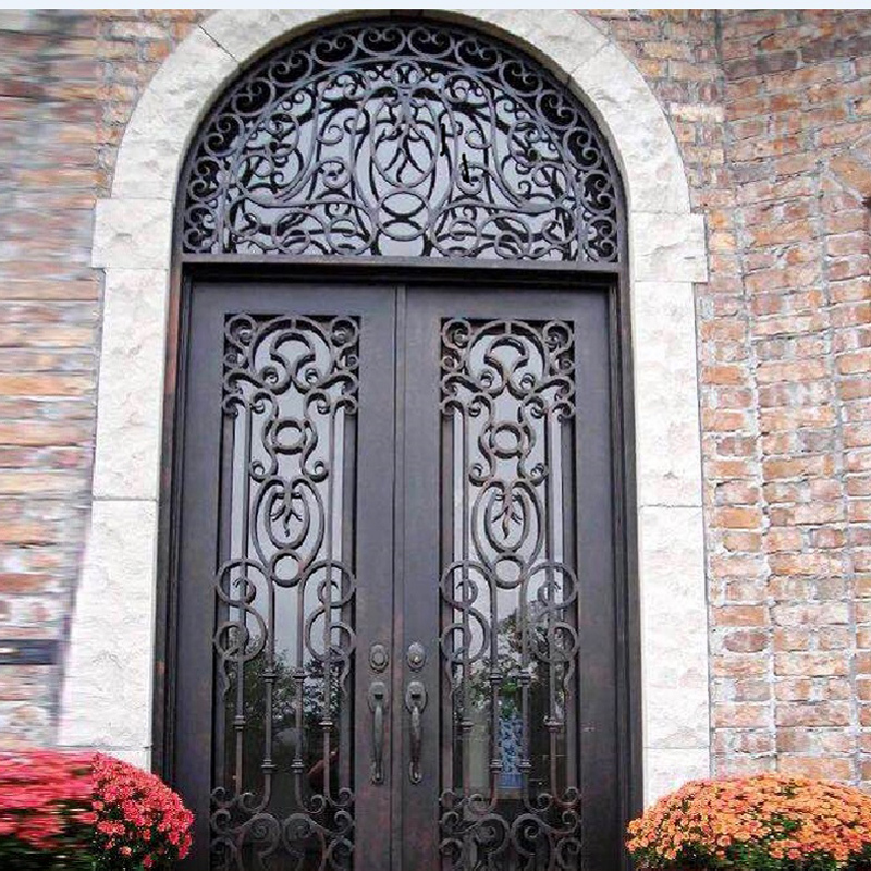 Customized front entry main wrought iron