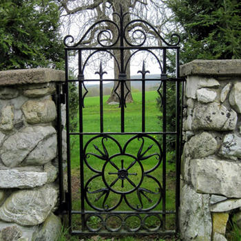 Garden single gate  Wrought iron steel main door design