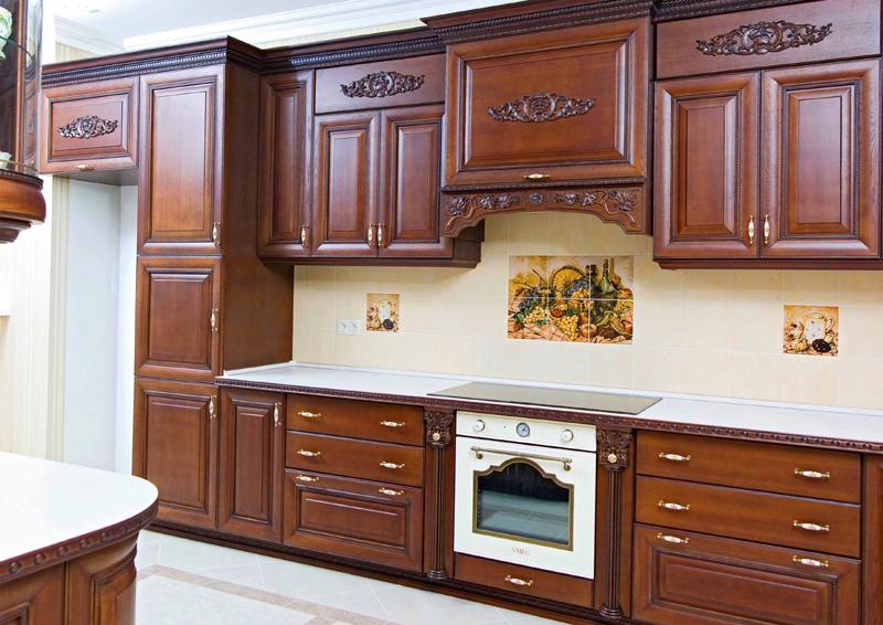 Popular style Kitchen Funiture Kitchen Cabinet Solid Wood Contemporary Kitchen Cabinet