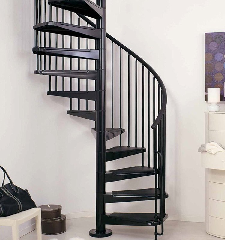 Custom Steel Spiral Staircase with Iron Railing Designs