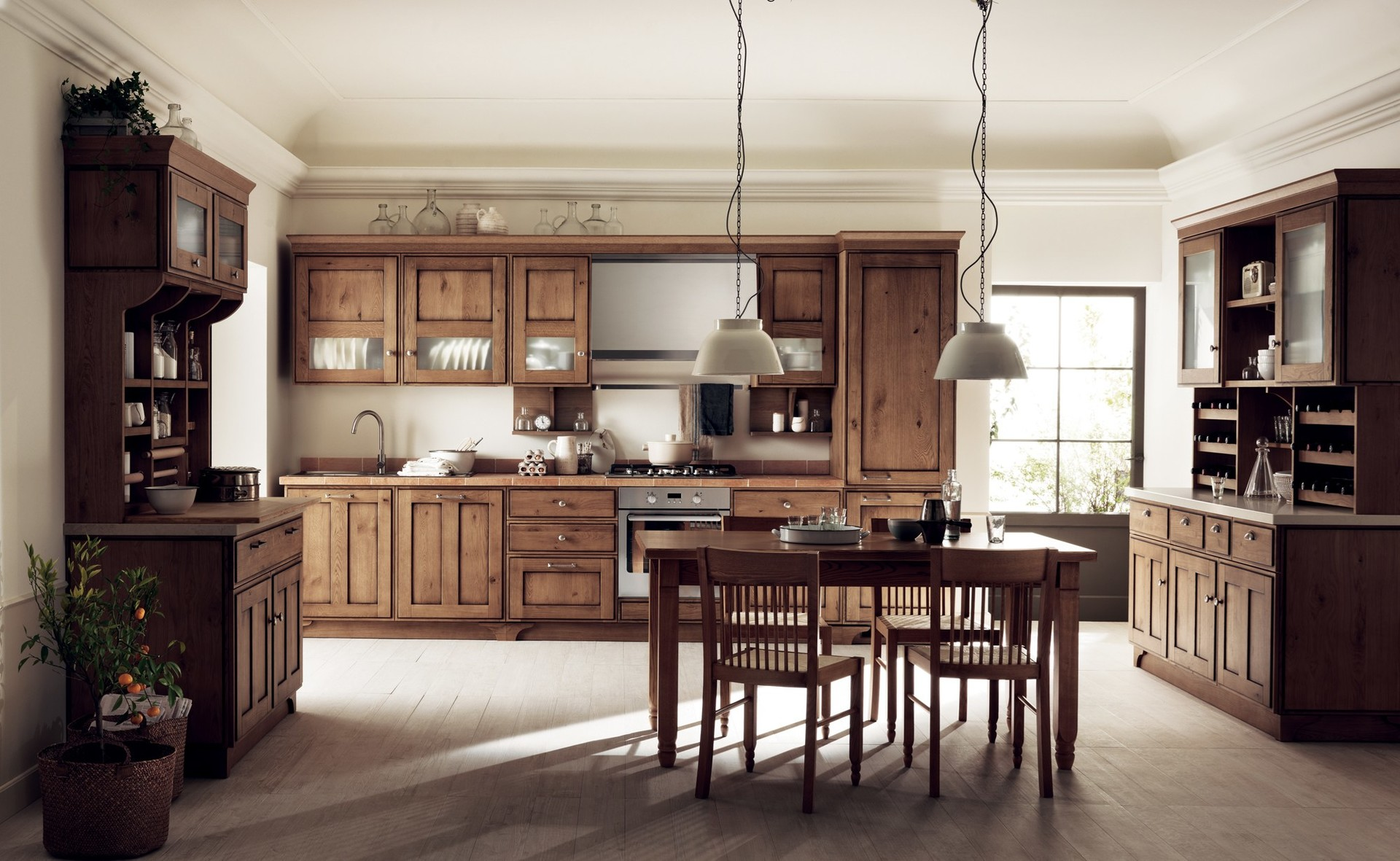 European standard double sided kitchen cabinets shaker style