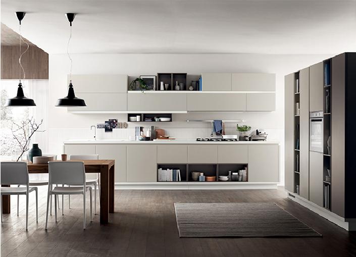 Diseño moderno de la cocina del recubrimiento de la laca del PVC de alto brillo