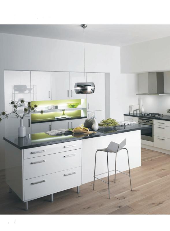Modern Kitchen Design Kitchen Island Whole Kitchen Cabinet Set frame-less kitchen cabinet