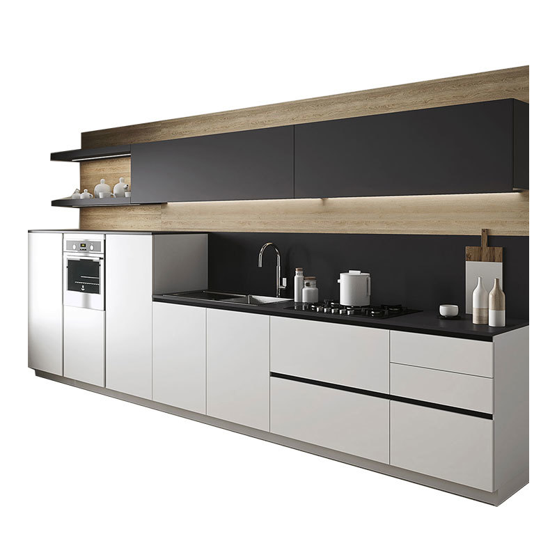 Customizable building material Multi-functionalHigh Gloss Acrylic Home Furniture Kitchen Cabinets Cupboard
