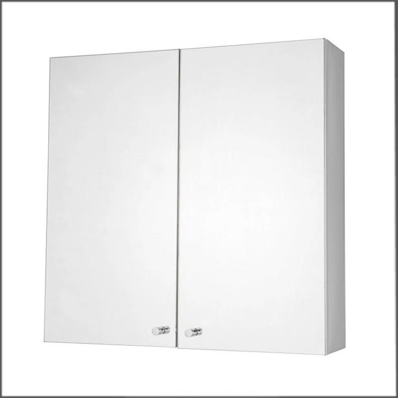 Classic 304 stainless steel bathroom cabinet with mirror metal commercial wall mounted mirror cabinet home furniture