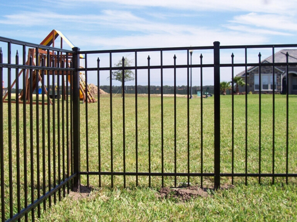 Outdoor decorative security garden iron fencing customization wrought iron fence