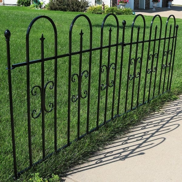 Privacy Used Fencing Post Panel Steel Iron Metal Wire Garden Fence