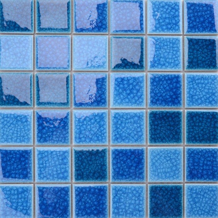 Swimming pool tile ice crackle ceramic mosaic 48x48