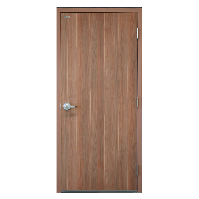 Solid core chipboard wood exterior door MDF grain pattern door fireproof