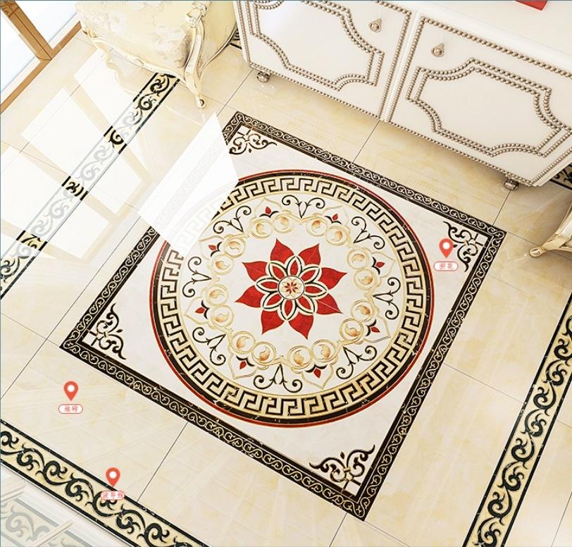 Polished crystal porcelain floor carpet tiles 1200x1200