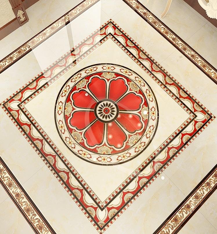 Flower puzzles decorative carpet floor tiles 1200x1200