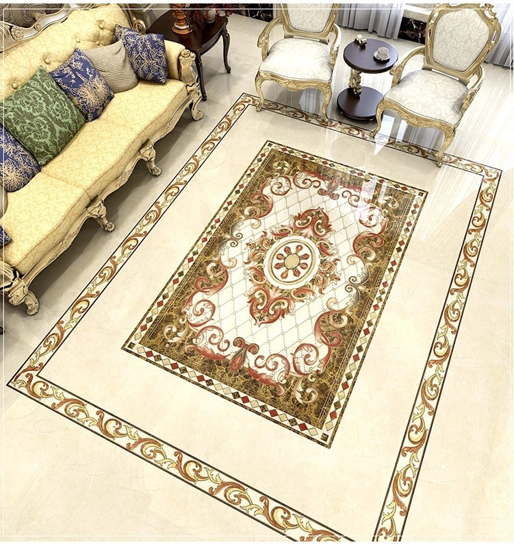 Golden polished carpet floor tiles 1200X1800