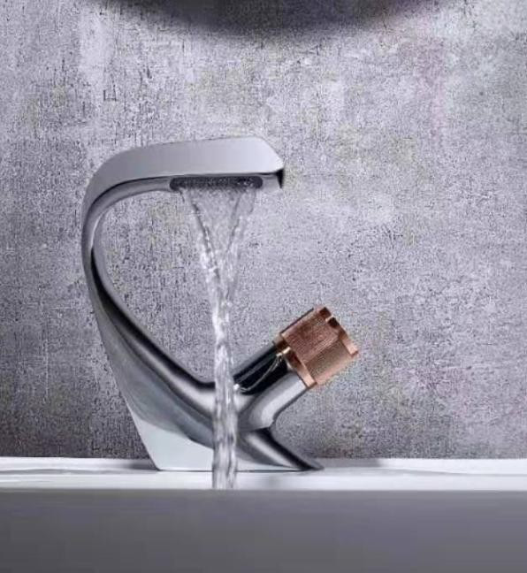 New Design Luxury Matte Black White Sliver colors  Bathroom Brass Faucet