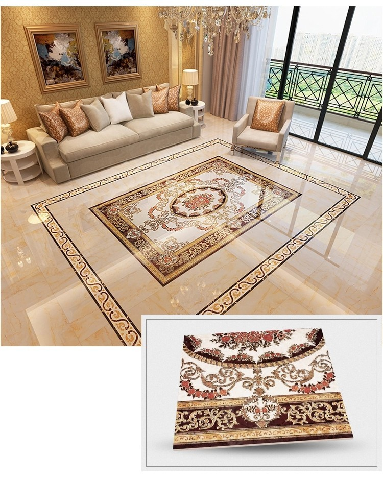 Golden Ceramic Puzzle Porcelain Tiles 1200X1800