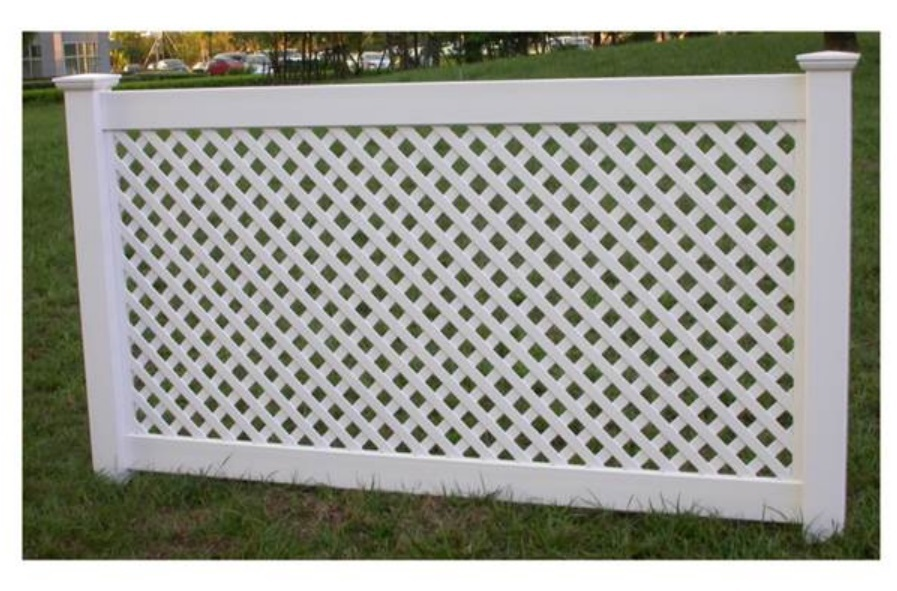 White hot sale cheap Latic vinyl pvc plastic privacy fence for home and garden
