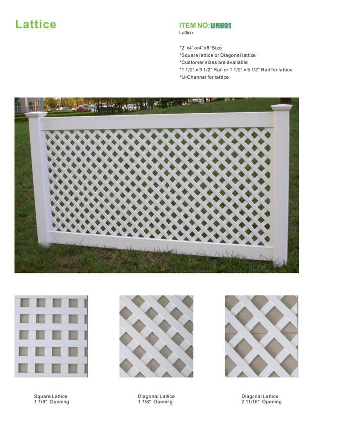 CBM durable pvc fence at discount for construstion