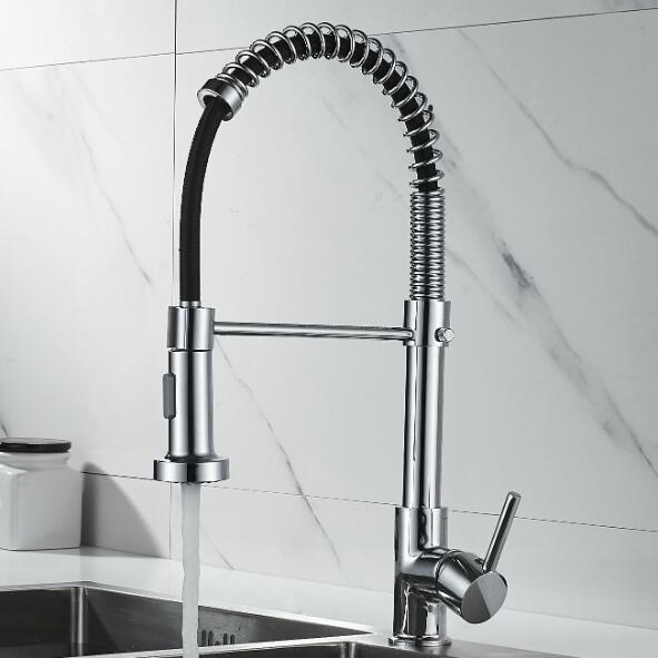 New design pull out spring design brass body kitchen faucets