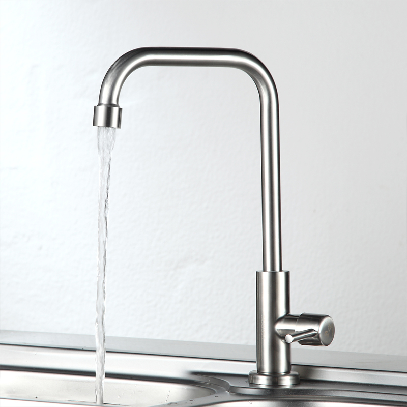 Stainless Steel Kitchen Faucet brushed surface