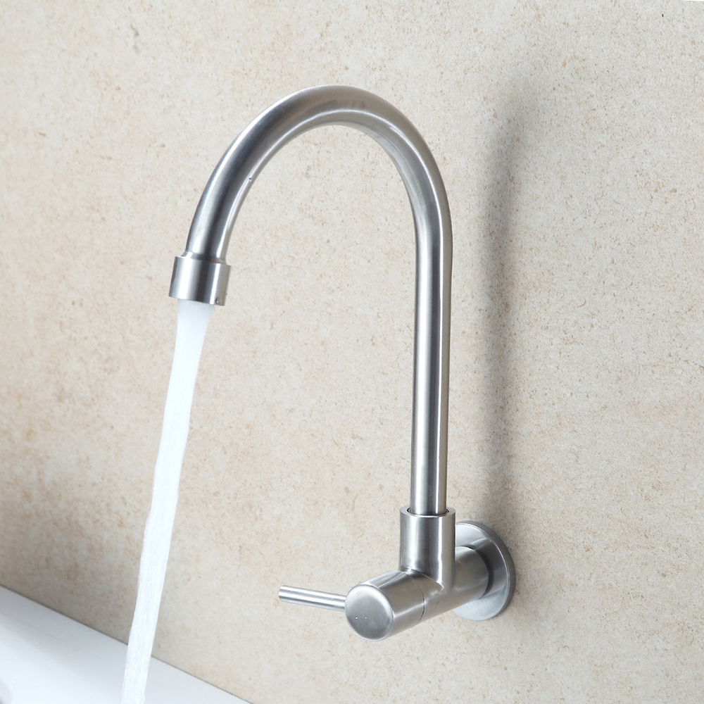 Stainless Steel 304 bathroom faucet kitchen faucet brushed surface wall mounted style