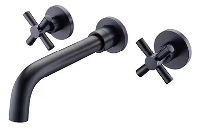 Modern design bathroom faucet wall mounted one handle double handle control